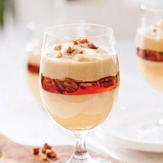 mousse-a-l-erable. Mini Desserts, No Cook Desserts, Easy Desserts, Dessert Recipes, Biscuits Graham, Pastry Design, Mousse Dessert, Sweet Cakes, Sweet Recipes