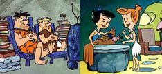 Fred Flintstone, Barney Rubble, Betty Rubble, and Wilma Flintstone.