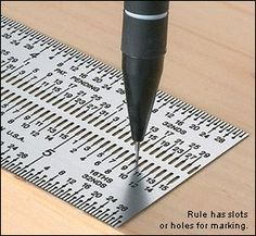 woodworking tools Incra® Marking Rules - Lee Valley Tools:Designed to eliminate parallax errors and used with standard lead mechanical pencils, these rules are perforated with slots or holes just slightly larger than -