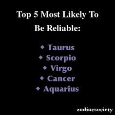 Zodiac Signs: Top 5 Most Likely To Be Reliable