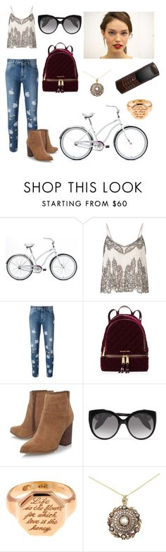 """Daphne #bikeride"" by lorecarvalheira ❤ liked on Polyvore featuring Mantis, Miss Selfridge, STELLA McCARTNEY, MICHAEL Michael Kors, Nine West, Alexander McQueen, Annina Vogel and Vertu"