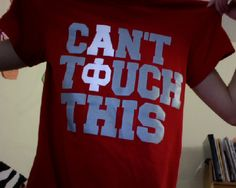 Can't Touch This. UMM intramural shirts please? Greek Week, Greek Life, Sorority Life, Sorority Shirts, Cant Touch This, My Love, Alpha Phi Crafts, Haha So True, Delta Zeta