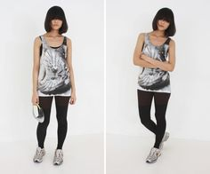 al,thing - Digital print sleeveless top