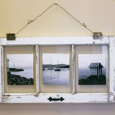 DIY Vintage Window Pane Photo Frame