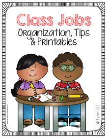 Teach123 - tips for teaching elementary school: Class Job Tips and freebie