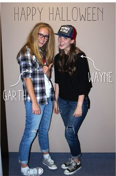 the milly and grace girls halloween costume wayne garth from waynes