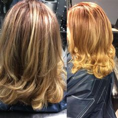 Red and blonde Fall color by Coz #blondehair #fallhair #redhair #headbangerssalon #wellahair #wellalife #behindthechair #modernsalon