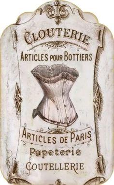 Brocante Brie, vintage label