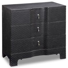 Find it at the Foundary - Modern Black Sparkle Side Chest$319.00