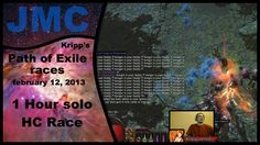 Kripp's Path of Exile races - Feb 12, 2013: 1h Solo HC race (Calibration) | #Games #VideoGames #PathofExile #Video #Videos