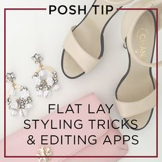 Flat Lay Styling Tricks and Editing Apps for selling Poshmark Flat Lay Photography, Clothing Photography, Selling Online, Selling On Ebay, Make Money Online, How To Make Money, Editing Apps, Photo Editing, Flatlay Styling