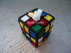 ♥ Dinah's Crochet Stuff ♥: Crochet Rubik's Cube Tissue Box Cover