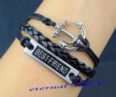 Anchor bracelets bracelets with best friends the by eternalDIY, $3.59