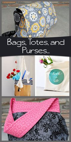 FANTASTIC!! FREE BAG PATTERNS! Bags, Totes, Messenger's, & Purses…Oh My