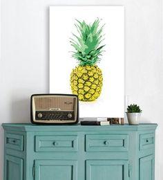 Abacaxi na decoração - Pôster