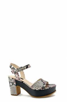 Animal-Print Platform Sandal. Zinda #SS16