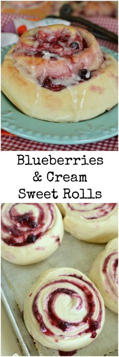 Blueberries and Cream Sweet Rolls are a gorgeous cousin to cinnamon rolls! You are not going to believe how easy they are to make either!