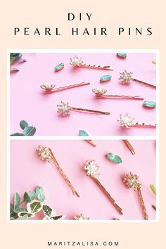 Hair Pins - This tutorial will show you how to easily make your own DIY Vintage Pearl Hair Pins! You'll be wearing them in no time or you can make them as gifts! Armband Diy, Fabric Coasters, Diy Mode, Pearl Hair Pins, Pinterest Diy, Vintage Pearls, Diy Schmuck, Appreciation Gifts, Craft Tutorials