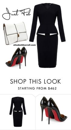 LIZ by elizabethhorrell on Polyvore featuring Raoul, Christian Louboutin and Dsquared2