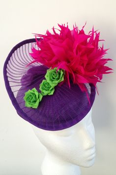 Electric water lily BY NONO KISH #millinery #HatAcademy