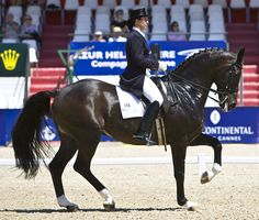 Catherine Haddad and Cadillac at the Exquis World Dressage Masters in Cannes. © 2009