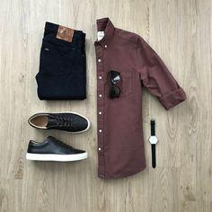 black denim outfit grid