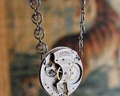 Steampunk Waltham Pocket Watch Pendant Necklace