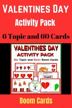"""This Valentine's Day Activity Pack contains 60 task cards on 6 topics. In case of """"missing number, how many, beginning sounds, valentines words"""", the student will read the text and look at the picture and click on the correct option. """"Join the broken heart"""" In this topic...."""