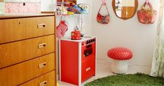 I love bright colors and Ozzy's room is the most colorful room in my home. Here's some pictures from her room. See other colorful inspirat...
