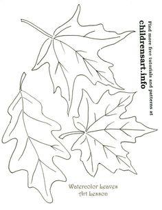fall leaf template Oak Leaf Outline clip art vector clip art