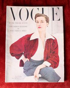 Vogue Magazine ~ August 1, 1949 ~ Rawlings Horst Great Fashion Images