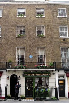 221b Baker St.  Sherlock Holmes and Dr. Watson lived here.  Still haunted by the sounds of the violin.
