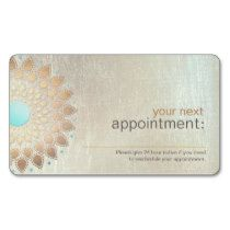 Gold Lotus Salon and Spa Appointment Card Business Card