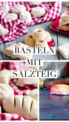 Basteln mit Salzteig - Ein grosser Spass für Kinder Crafts with salt dough. Simple and quick recipe to make yourself, you can use it to make pretty little things for the grocery store or the play kitc Best Salt Dough Recipe, Diy For Kids, Crafts For Kids, Children Crafts, Salt Dough Decorations, Baking Soda Clay, Salt Dough Christmas Ornaments, Salt Dough Crafts, Polymer Clay Ornaments