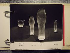 Page from a 1950s Iittala glass trade catalogue