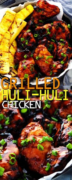 GRILLED HULI HULI CHICKEN   Food Fun Kitchen Grilling Recipes, Beef Recipes, Healthy Recipes, Delicious Recipes, Chicken Parmesan Recipes, Chicken Meals, Bbq Chicken, Huli Huli Chicken, Recipes