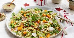 """""""This delicious Byron Bay inspired salad includes a fresh combination of healthy ingredients with a simple lime and olive oil vinaigrette. It's fresh, healthy, light and, not to mention, vegan. I like to finish by sprinkling over sunflower petals or other edible flowers."""" - Curtis Stone"""