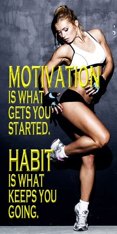 MOTIVATION is what gets you started. HABIT is what keeps you going. If you stay consistently motivated to eat right and exercise, it will eventually become second nature to you. This FITNESS CHALLENGE is a great point to start the body and mind transformation… #fitnesschallenge #workoutplan #workoutforwomen #weightlossplan #fatburn #getfit #fitnessquote