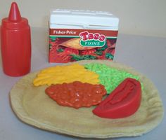 Vintage Fisher Price Fun With Food Taco Deluxe Set