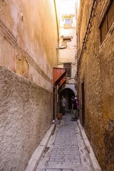 Alleyway leading to Riad Al Atik in the Fes Medina in Morocco. For more photos and tips on visiting Morocco read the article.