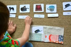 Letter Work and Phonetic Three Part Cards. Around Here - Montessori at Home Link Up