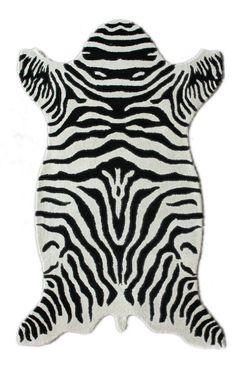 Rugs USA Madagascar Zebra White Rug