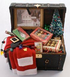 Dollhouse Christmas Trunk 2 by JoyceBernardMiniatur on Etsy, $145.00