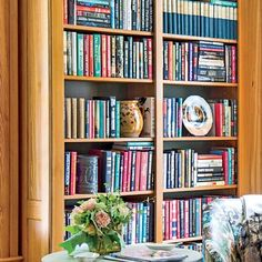 The 2015 Charlottesville Idea House: The Library gets character from shelves filled with books, not just objects.