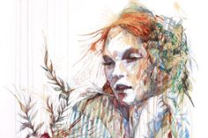 Illustrations by Carne Griffiths. More on http://lookslikegooddesign.com/illustrations-by-carne-griffiths/