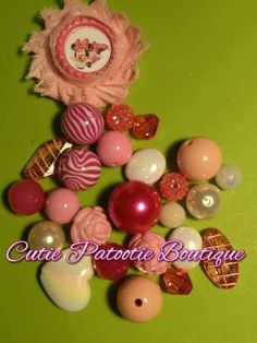 Minnie Mouse Necklace KIT by CuTiEpAtOoTieBsHoP on Etsy, $6.00