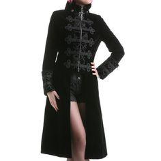 Manteau Gothique en Velours | Crazyinlove France