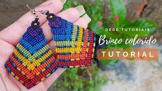 13 x 50 cm Macrame Earrings Tutorial, Earring Tutorial, Bracelet Tutorial, Diy Earrings, Macrame Cord, Macrame Knots, Macrame Jewelry, Macrame Bracelets, Loom Bracelets