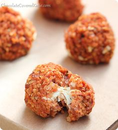 Webster's, take note.Quinoa Pizza Bites(makes 8-10)1 cup cooked quinoa (see: How to Cook Quinoa)1 cup canned (or cooked) pinto beans1/2 cup ...