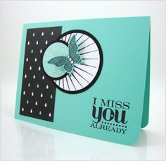 Stampin' Up! ... handmade card ... turquoise and black with a spot of white ... luv the crisp  and neat lines of this card ... sentiment perfecly balances the focal point montage ...